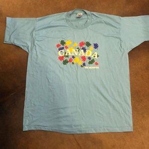 Vintage 90s Canada Mens 2XL Single Stitch Tshirt